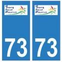 73 Bourg-Saint-Maurice logo autocollant plaque immatriculation ville