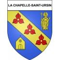 Stickers coat of arms La Chapelle-Saint-Ursin adhesive sticker