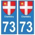 73 Chambéry blason autocollant plaque immatriculation ville