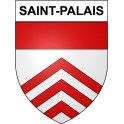 Stickers coat of arms Saint-Palais adhesive sticker
