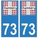 73 Chambéry logo autocollant plaque immatriculation ville