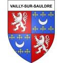 Vailly-sur-Sauldre 18 ville Stickers blason autocollant adhésif