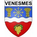 Venesmes 18 ville Stickers blason autocollant adhésif