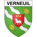 Stickers coat of arms Verneuil adhesive sticker