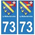 73 La Motte-Servolex blason autocollant plaque immatriculation ville
