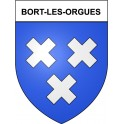 Stickers coat of arms Bort-les-Orgues adhesive sticker