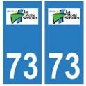 73 La Motte-Servolex logo autocollant plaque immatriculation ville