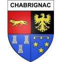 Stickers coat of arms Chabrignac adhesive sticker