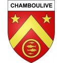 Stickers coat of arms Chamboulive adhesive sticker