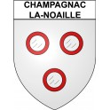Stickers coat of arms Champagnac-la-Noaille adhesive sticker