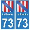 73 La Ravoire blason autocollant plaque immatriculation ville