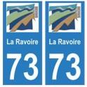 73 La Ravoire logo autocollant plaque immatriculation ville