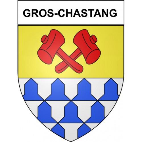 Gros-Chastang 19 ville Stickers blason autocollant adhésif
