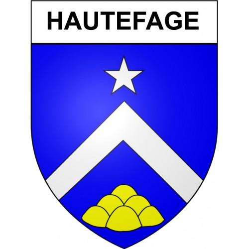 Hautefage 19 ville Stickers blason autocollant adhésif