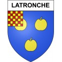 Stickers coat of arms Latronche adhesive sticker