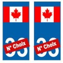 Canada numéro choix autocollant plaque sticker