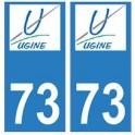 73 Ugine logo autocollant plaque immatriculation ville
