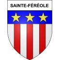 Stickers coat of arms Sainte-Féréole adhesive sticker