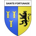 Stickers coat of arms Sainte-Fortunade adhesive sticker