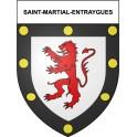 Saint-Martial-Entraygues 19 ville Stickers blason autocollant adhésif