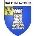 Stickers coat of arms Salon-la-Tour adhesive sticker
