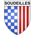 Stickers coat of arms Soudeilles adhesive sticker