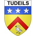 Stickers coat of arms Tudeils adhesive sticker
