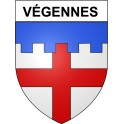 Stickers coat of arms Végennes adhesive sticker