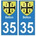 35 Betton blason autocollant plaque stickers ville