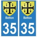 35 Betton blason autocollant plaque stickers ville