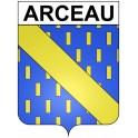 Stickers coat of arms Arceau adhesive sticker