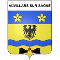 Stickers coat of arms Auvillars-sur-Saône adhesive sticker