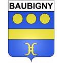 Stickers coat of arms Baubigny adhesive sticker