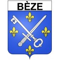 Stickers coat of arms Bèze adhesive sticker