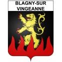 Stickers coat of arms Blagny-sur-Vingeanne adhesive sticker