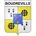 Stickers coat of arms Boudreville adhesive sticker