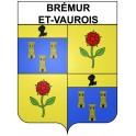 Stickers coat of arms Brémur-et-Vaurois adhesive sticker