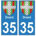 35 Dinard blason autocollant plaque stickers ville