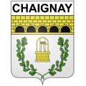 Chaignay 21 ville Stickers blason autocollant adhésif