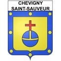 Stickers coat of arms Chevigny-Saint-Sauveur adhesive sticker