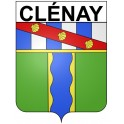 Stickers coat of arms Clénay adhesive sticker