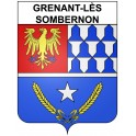 Stickers coat of arms Grenant-lès-Sombernon adhesive sticker