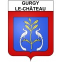 Stickers coat of arms Gurgy-le-Château adhesive sticker