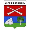 La Roche-en-Brenil 21 ville Stickers blason autocollant adhésif