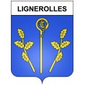 Stickers coat of arms Lignerolles adhesive sticker
