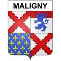 Maligny 21 ville Stickers blason autocollant adhésif