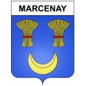 Marcenay 21 ville Stickers blason autocollant adhésif
