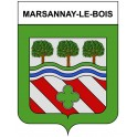 Marsannay-le-Bois 21 ville Stickers blason autocollant adhésif