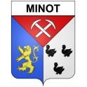 Pegatinas escudo de armas de Omps adhesivo de la etiqueta engomada