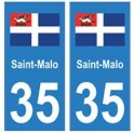 35 Saint-Malo logo sticker plate stickers city